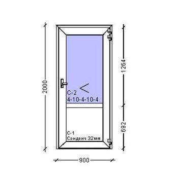 дверь входная 900х2000